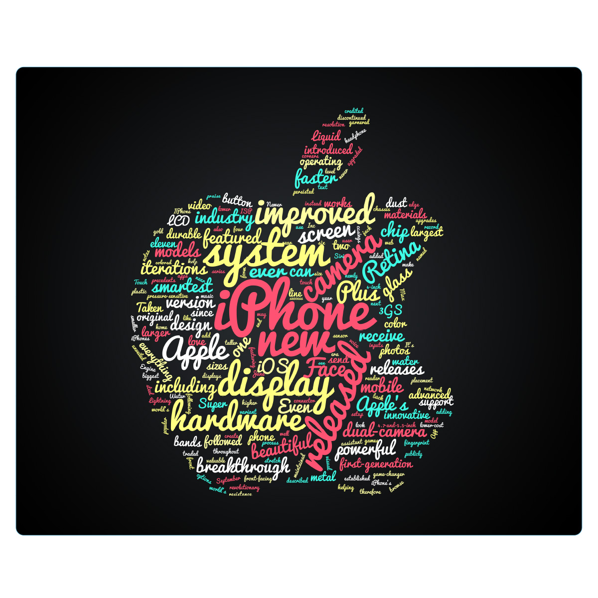 Mouse pad : Apple text